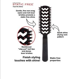 Cricket Static Free Fast Flo Shine Brush
